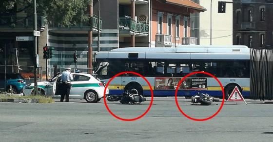 L'incidente in corso Potenza (© Nico Marinelli)