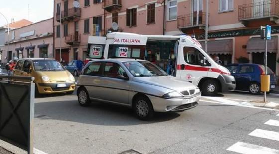 L'incidente di via Rosselli (© Diario di Biella)