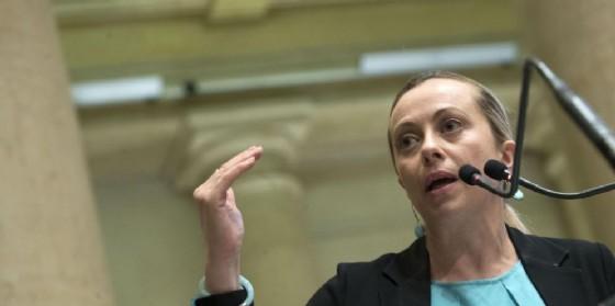 La leader di FDI Giorgia Meloni.