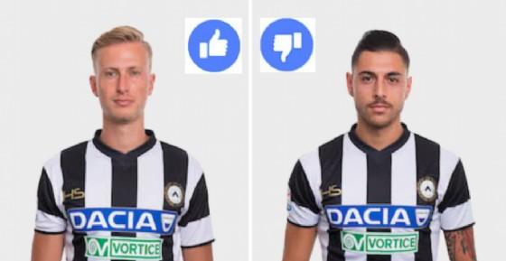 Barak e Pezzella, il migliore e il peggiore di Udinese-Genoa (© www.udinese.it)