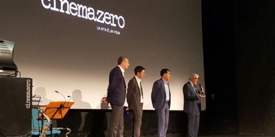 Sergio Bolzonello (Vicepresidente Regione FVG e assessore Attività produttive, Turismo e Cooperazione) all'inaugurazione della quarta sala di Cinemazero