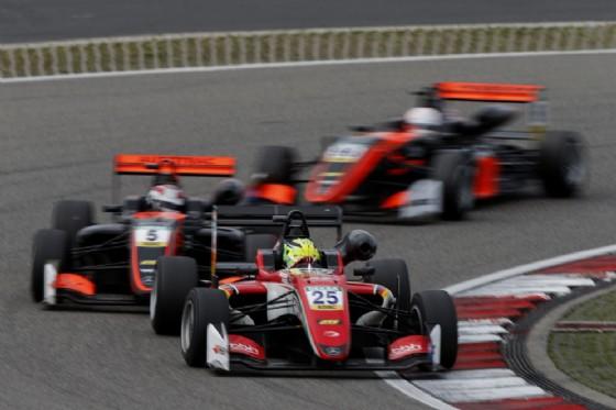 Schumacher in azione sulla monoposto del team Prema