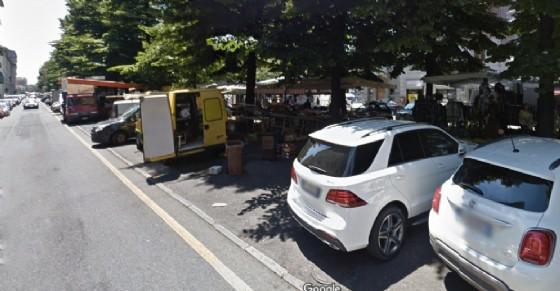 Il mercato di corso Racconigi (© Google Street View)