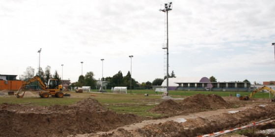 I lavori di manutenzione e conservazione degli impianti sportivi comunali (© Comune di Pordenone)