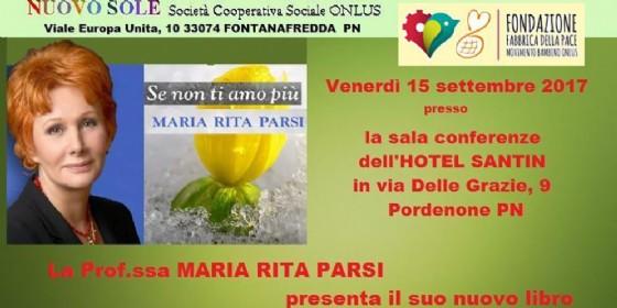A Pordenone la nota psicoterapeuta Maria Rita Parsi per un incontro con la cooperativa Nuovo Sole (© Confcooperative Pordenone)