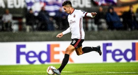 Andrè Silva in rete contro l'Austria Vienna