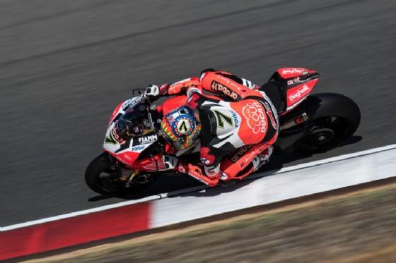 Chaz Davies, terzo nel venerdì portoghese della Superbike