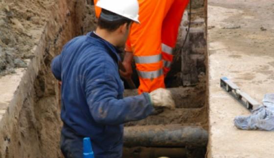 Lavori di manutenzione della rete idrica (© Diario di Trieste)
