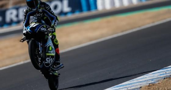 L'impennata di esultanza di Dennis Foggia a Jerez