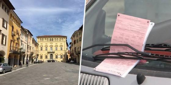 Contravvenzioni in piazza Cisterna