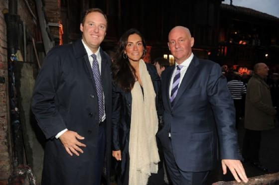 Giovanni e Letizia Germanetti con Stuart McColluogh