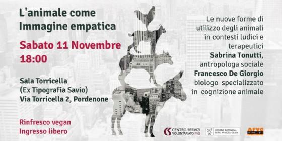 """""""L'animale come immagine empatica"""", una conferenza a Pordenone"""
