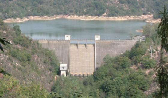 La diga presente nella zona di Masserano