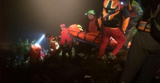 Operazione di soccorso di un cacciatore infortunato (© Corpo Nazionale Soccorso Alpino e Speleologico (CNSAS Piemonte))