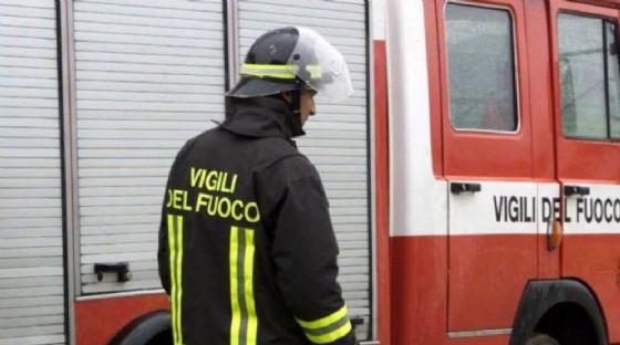 L'intervento dei vigili del fuoco (© Vigili del fuoco)
