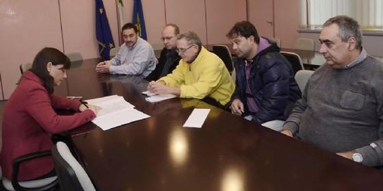 Debora Serracchiani (Presidente Regione Friuli Venezia Giulia) incontra rappresentanti sindacali di Leonardo Finmeccanica (© Foto Arc Montenero)
