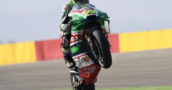 Aleix Espargaro festeggia il piazzamento al GP di Aragona