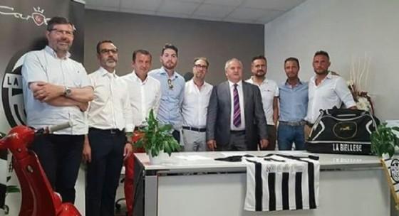 Dirigenti, mister e sponsor de La Biellese