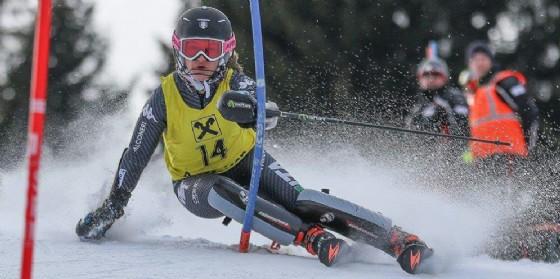 Lara della Mea durante una gara femminile di Sci Alpino