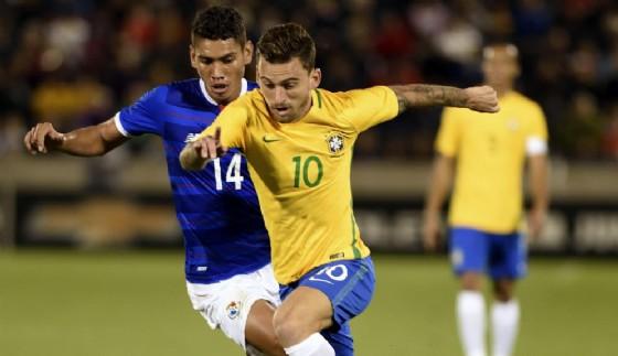 Lucas Lima con la maglia del Brasile