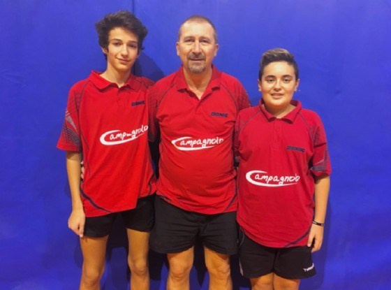 Formazione di serie B2: Simone Cagna, Adrian Panaite e Vincenzo Carmona (© Diario di Biella)