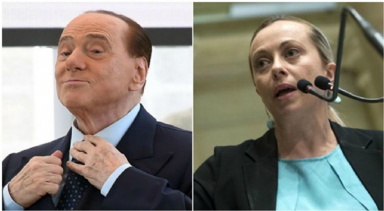 Giorgia Meloni rimprova Berlusconi per il suo appoggio al Rosatellum.