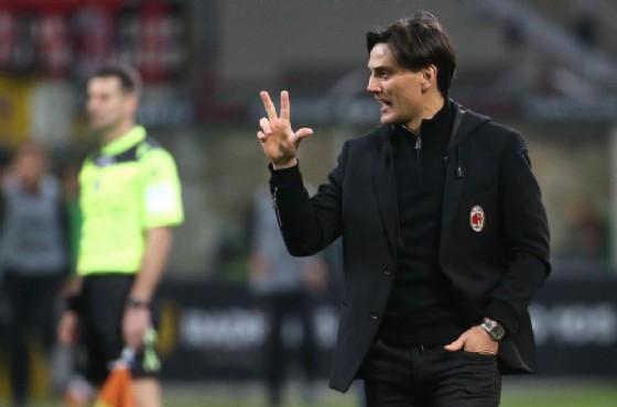 L'allenatore del Milan Vincenzo Montella