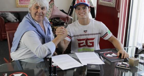 Eric Granado con il proprietario del team Giovanni Cuzari