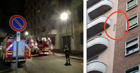I vigili del fuoco intervenuti in corso Vittorio (© Diario di Torino)