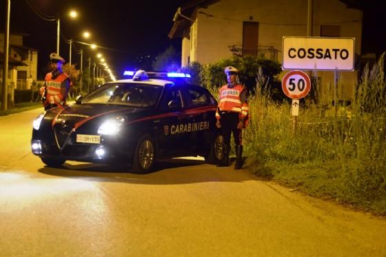Pattuglia dei carabinieri in un servizio notturno (© Diario di Biella)