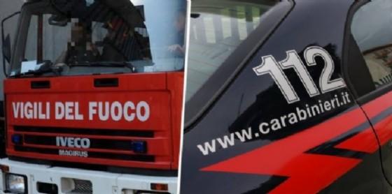Carabinieri e vigili del fuoco (© Diario di Biellario di Biellai)