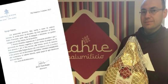 Papa Francesco ringrazia per il prosciutto ricevuto da Ampezzo