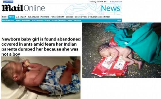 Neonata abbandonata in India: forse lasciata in strada perché femmina