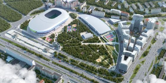 Friuli protagonista nella realizzazione della nuova 'VTB Arena Park' (© De Eccher)
