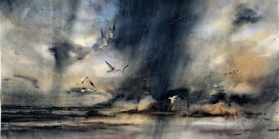 'Vento in Laguna' opera tratta dalla mostra 'Vento d'autunno. Visioni di Marina Legovini'