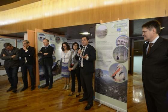 European Green Belt: il presidente Iacop e l'assessore Vito inaugurano la mostra