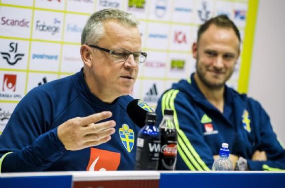 Jan Andersson ed Andreas Granqvist, commissario tecnico e capitano della nazionale svedese