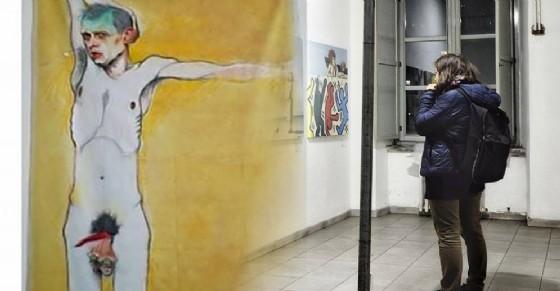 «Modello Per Dente» l'opera dell'argentino Javier Sordato (© Fabio Bianco)