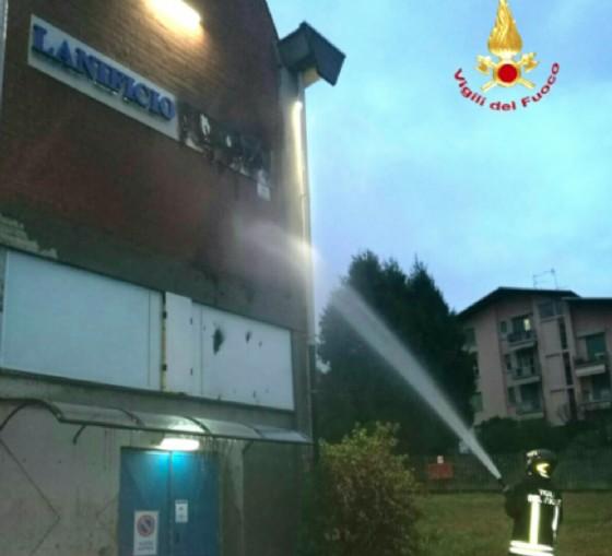 Un momento dell'intervento (© Vigili del fuoco - Biella)