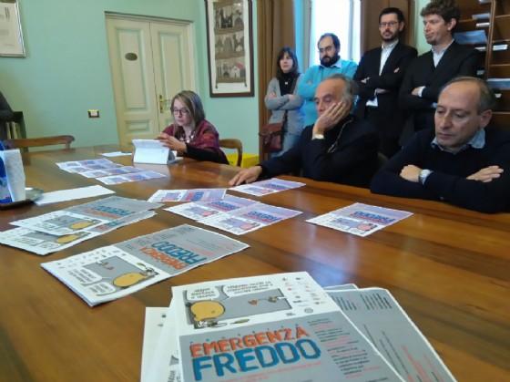 Un momento della conferenza stampa di presentazione delle iniziative. A sinistra l'assessore Salivotti (© Comune di Biella)