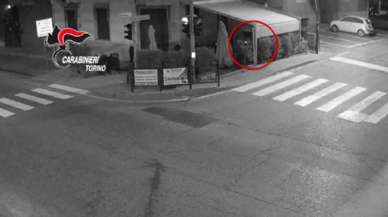 Istantanea del video di sorveglianza (© Carabinieri)