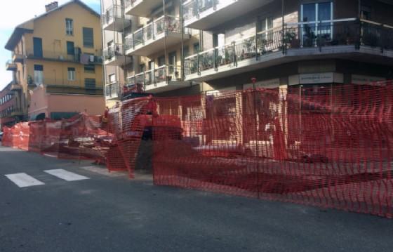 ll cantiere per la rete gas di via Piave (© Comune di Biella)
