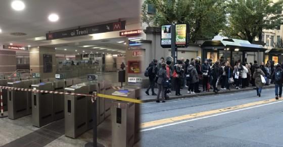 Ferma la metropolitana tra Porta Nuova e Lingotto: in tilt il trasporto pubblico di prima mattina (© Diario di Torino)