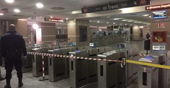 La metropolitana chiusa