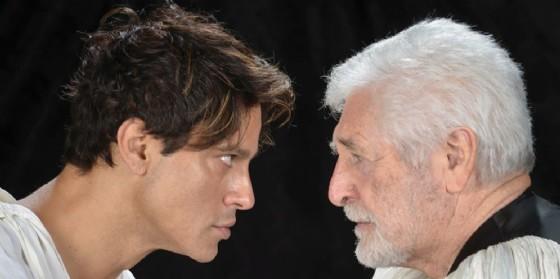 'Odio Amleto': Gabriel Garko e Ugo Pagliai sul palco del Modena di Palmanova (© Ert fvg)