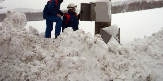 Migliaia senza luce a causa delle nevicate