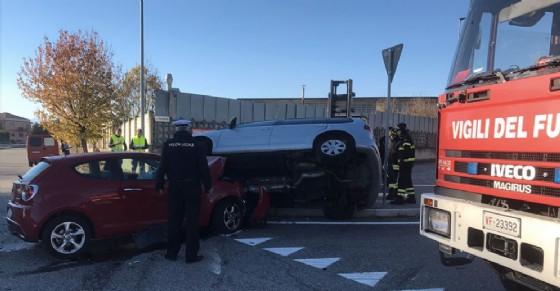 L'incidente a Nichelino (© Diario di Torino)