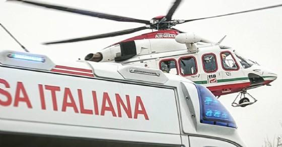 Un ferito trasportato in elicottero al Cto