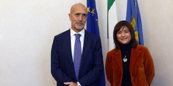 Debora Serracchiani (Presidente Regione Friuli Venezia Giulia) incontra Massimo Marchesiello (Prefetto Gorizia) (© Foto Arc Montenero)