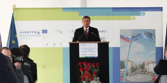 Il presidente della Repubblica di Slovenia Pahor a Gorizia per l'evento di lancio del Gect Go (© Gruppo Europeo di Cooperazione Territoriale)
